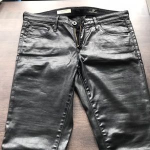 Ag Adriano Goldschmied Pants - AG Leather Skinny Jeans